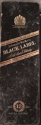Vintage JOHNNIE WALKER  BLACK LABEL WHISKY COLLECTOR TIN BOX CASE EMPTY