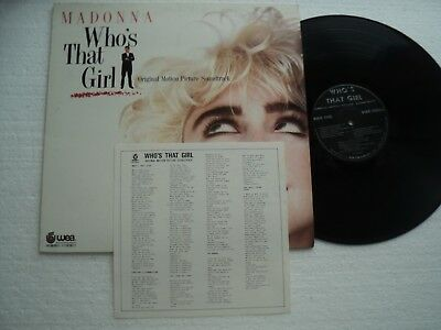 MADONNA - Who's that Girl - Rare & Ltd edition TAIWAN release / Max.100 Copies