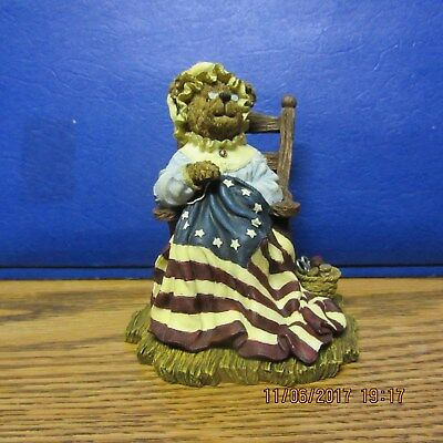 2001 Boyds Bears Bearstone Collection Figureen (A STITCH IN TIME)