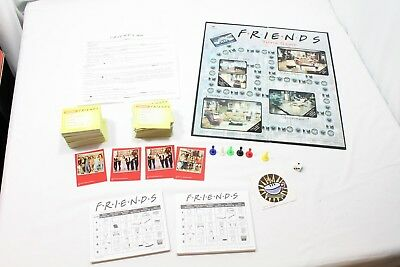 2003 Friends Trivia Board Game Collectible Red Tin W/Picture and Extra Cards