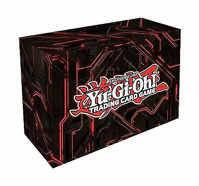 Konami Yugioh Card Game Storage Red Dual Double Deck Box (Version #3 - Red)