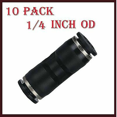 utah pneumatic 10 Pack Plastic Push to Connect Fittings Tube Connect 1/4 inch...