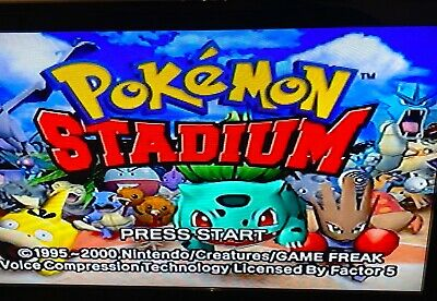 ✅ Pokemon Stadium Nintendo 64 N64 Video Game Cart Battle Retro Pikachu Super Fun