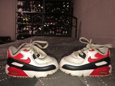 quality design 99d58 815fc Nike Air Max 90 LTR TD Baby Boys Toddler Athletic Shoes Size 5C White Red  Black