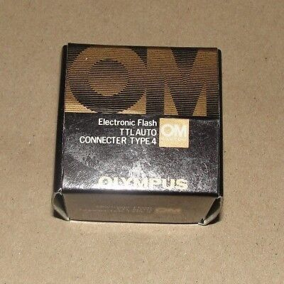 MINT GENUINE Olympus OM System Camera Electronic Flash TTL Auto Connector Type 4