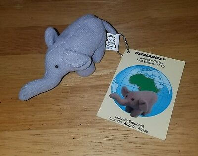 VINTAGE WEEBEANIES COLLECTOR SERIES 1st EDITION keychain Luanda Elephant 1997
