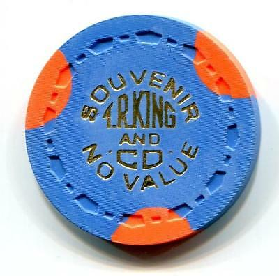 T R KING Manufacturers Scarce sample Casino Chip small crown 1950s? blue