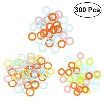 300PCS Amazing Knitting Crochet Locking Stitch Ring Markers Holder Tools