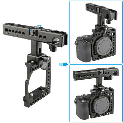 US CAMVATE Aluminum Camera Cage Top Handle Grip Kit for Sony A6000 A6300 A6500