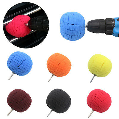 Wheel Hub Polish Buffing Shank Polishing Sponge Cone Metal Foam Pad Car Clean