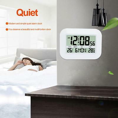 LCD Digital Electronic Calendar Simple Living Room Mute Thermometer Wall Clock