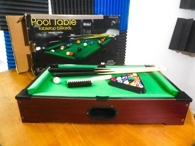 Child Mini Tabletop Pool Table Desktop Game Billiards Sets Kid Sports Balls  Gift