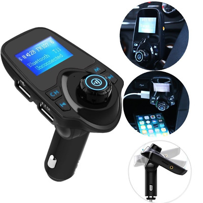 Wireless Bluetooth FM Transmitter Car Kit MP3 Handsfree Adapter USB Charger New