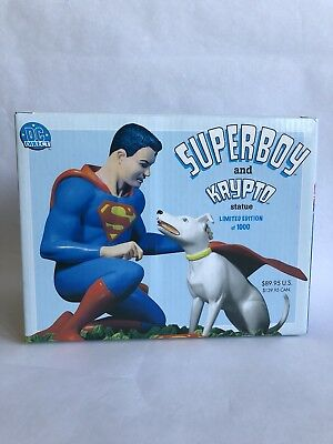 Superboy And Krypto Statue 711 Of 1000 MIB DC Direct 2004