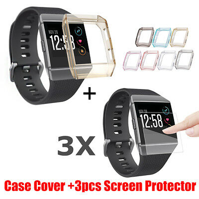 3X Explosionproof Film Gurad Screen Protector + Case Cover Film For Fitbit Ionic