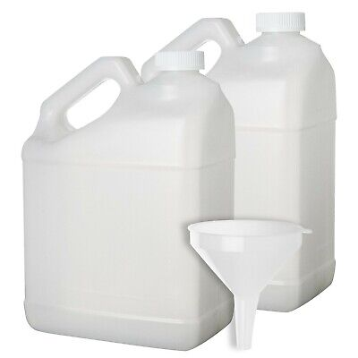 2 Pack - 1 Gallon Plastic Bottle - Large Empty F-style Jug Container with Child