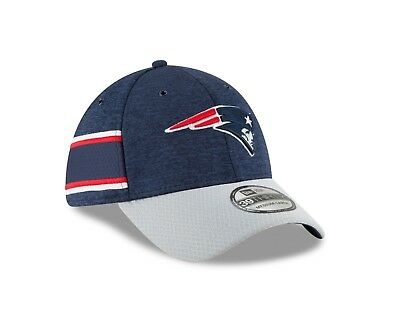 d3475ee26f5 New England Patriots New Era 2018 NFL Sideline Home Official 39THIRTY Flex  Hat