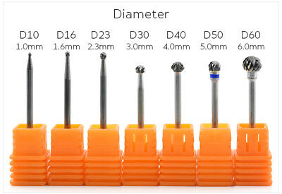 Manicure Carbide Ball Nail Drill Bits Rotary Burr Cuticle Clean Bits Tool File