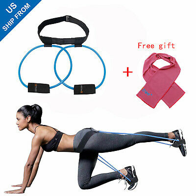 Women Booty Butt Band Workout Resistance Belt,Tone Firm Fitnesss Exercise 40lb