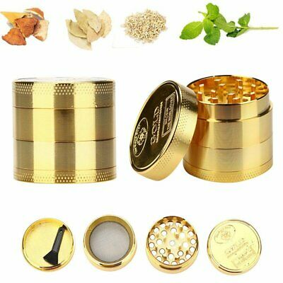 Tobacco Herb Spice Grinder 4 Layers Herbal Alloy Smoke Metal Chromium Crusher US