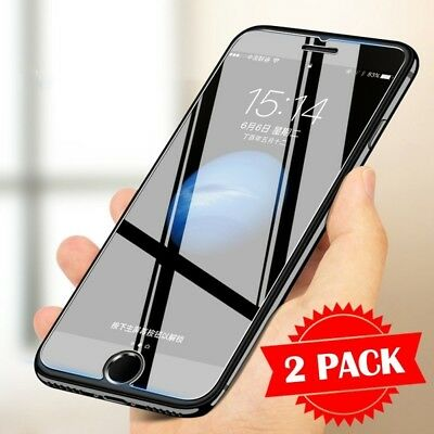 2X 9H Tempered Glass Film for iPhone 5 5s 6 6s 7 8 Plus X 2.5D Screen Protector