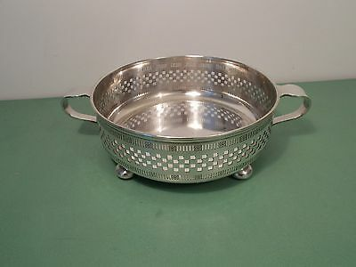 Lovely Antique Silver Plated Pierced  Fruit Bowl