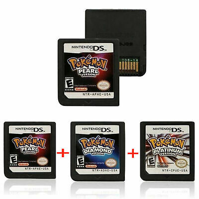 POKEMON Game Card for Nintendo 3DS DSI NDS NDSL LITE Platinum Pearl Diamond