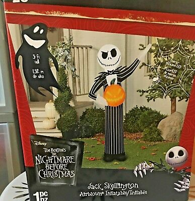 nbc jack skellington pumpkin king 5 ft halloween inflatable lawn decoration