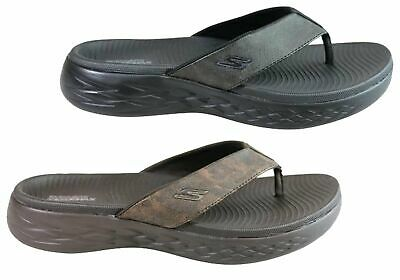New Skechers Mens On The Go 600 Seaport Cushioned Comfort Thongs Sandals
