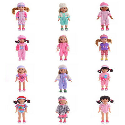 New 14.5 Inch Doll  Suits With Hat Fit For Baby Born Doll Clothes Accessories
