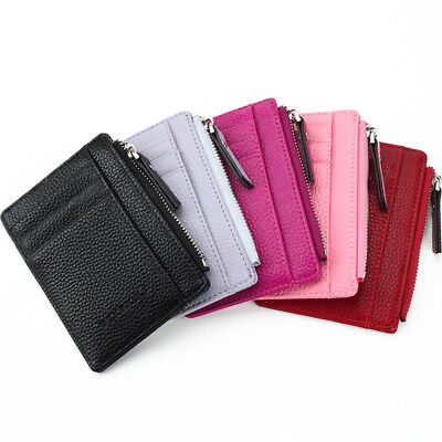 Women Men ID Credit Card Holder Business Pocket Case Slim Purse Wallet Unisex