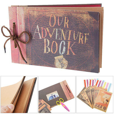 Vintage Photo Album Our Adventure Book Memory DIY Anniversary Scrapbook Brown UK