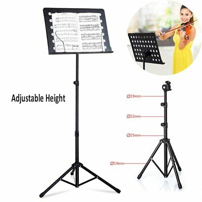 Heavy Duty Adjustable Music Stand Holder Base Tripod Orchestral Conductor Sheet