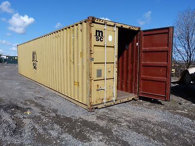 """40FT x 8FT X 9FT 6"""" HIGH CUBE STEEL SHIPPING CONTAINERS - NATIONWIDE *£1275+VAT*"""