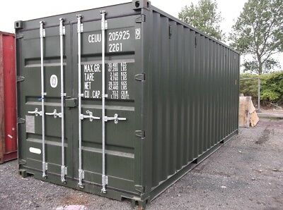 """20Ft X 8Ft X 8Ft 6"""" New 'one Trip' Shipping Containers - Nationwide *£1950+Vat*"""