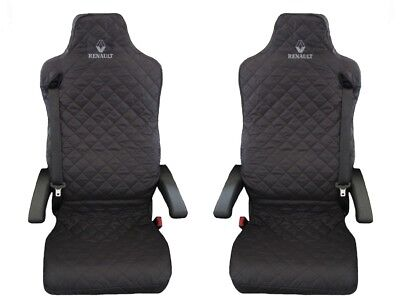 Renault T , Reanult C Truck Seat Covers 2 piece (1+1) BLACK