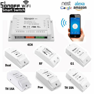 Sonoff Smart Home WiFi Wireless Switch Modul Monitor Für IOS Android APP 220V DE