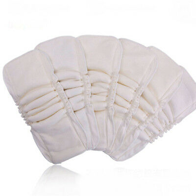 1Pcs 5 Layers Reusable Washable Inserts Boosters Liner For Pocket Cloth Nappy CB