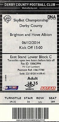 Derby County v Brighton & Hove Albion 2014-15