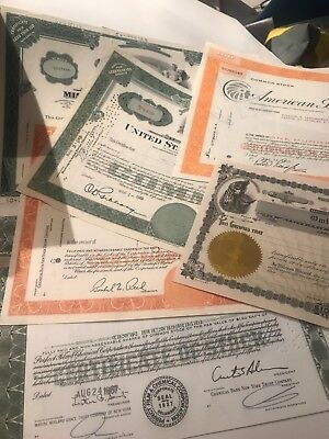 Collector Lot (7) Industrial Stock Certificates