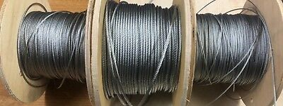 1.5mm, 2mm, 3mm, 4mm, 5mm, 6mm Steel Wire Rope, Galvanised.
