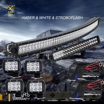 """300W 52"""" inch Curved Led Light Bar Combo Beam Off-road Truck   4WD 40/44 300W"""