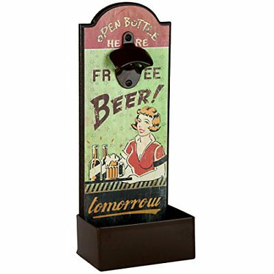Lily's Home Vintage Humorous Beer Bottle Opener With Cap Catcher, Father's Day G