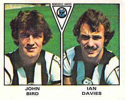 IAN DAVIES PANINI FOOTBALL 80 #448-NEWCASTLE UNITED-JOHN BIRD