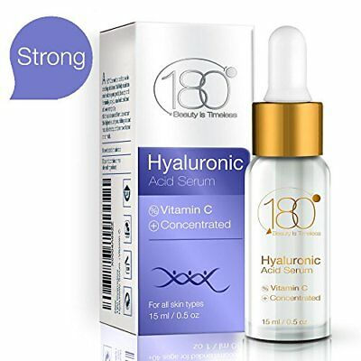 Hyaluronic Acid & Vitamin C Facial Serum by 180 Cosmetics - Concentrated & Pure