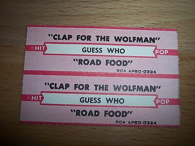 "2 Guess Who Clap For The Wolfman Jukebox Title Strip CD 7"" 45RPM Record"