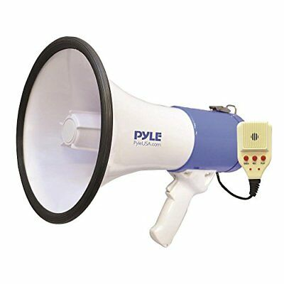 Pyle Megaphone Speaker [Audio PA Sound System] Built-in Rechargeable Battery | S