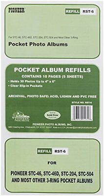 4 X Pioneer Refill Pages For 3 Ring Photo Albums Holds 4x6 Inch
