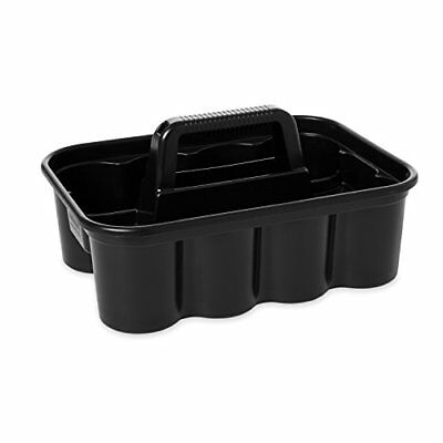 Rubbermaid Commercial Deluxe Carry Cleaning Caddy, Black (FG315488BLA) Fast Ship
