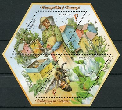 Belarus 2016 MNH Beekeeping 2v M/S Insects Beehive Beekeeper Bees Stamps